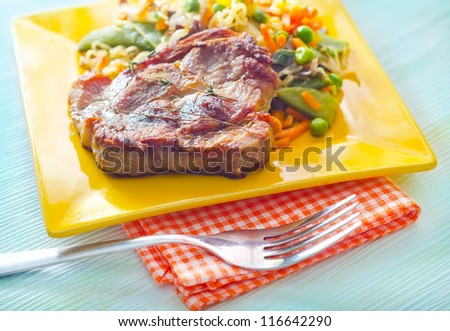 Steak with vegetables