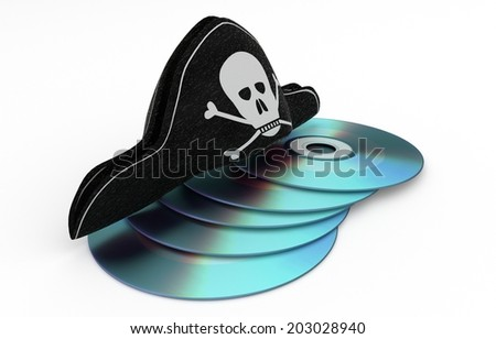 stealing cd - data hacking concept - 3D model, white isolated