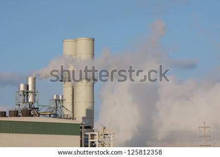 Steam and Exhaust let off from a Natural Gas power station