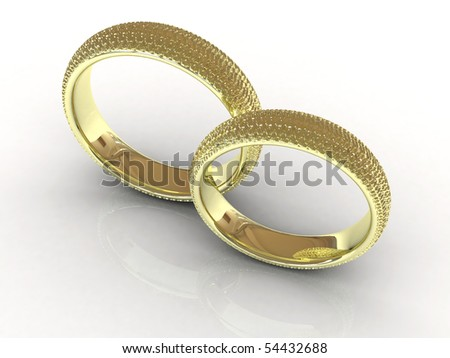 steam gold wedding rings