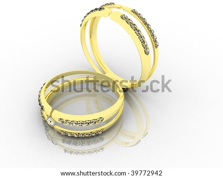 steam gold wedding rings (4 part)