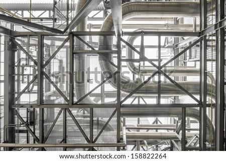 steam pipe line - stock photo