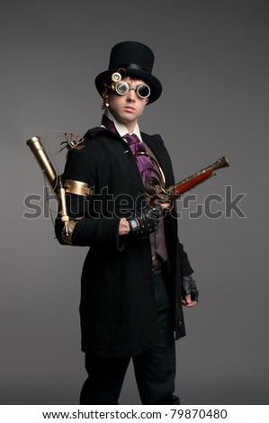 Steam-punk stylized character