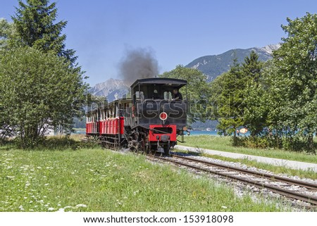 steam railway in Tyrol , - stock photo