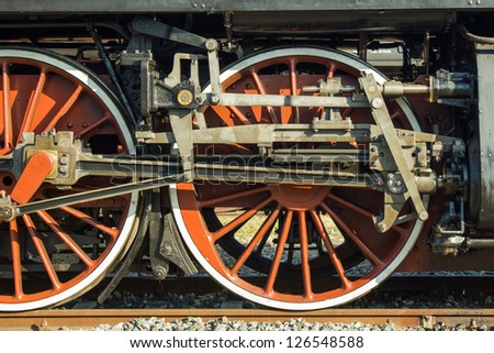 Steam train - stock photo