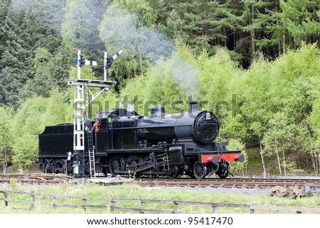steam train, North Yorkshire Moors Railway (NYMR), Yorkshire, England