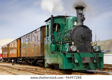 steam tram, RTM, Ouddorp, Netherlands - stock photo