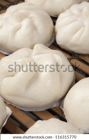steamed chinese bun - stock photo