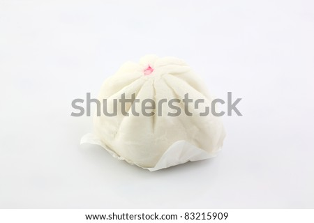 steamed dumpling isolated in white background - stock photo