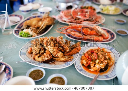 Steamed, fried seafood