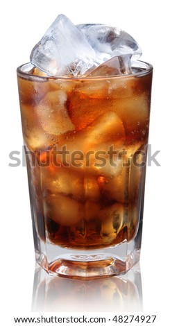 Steamed glass with cold cola