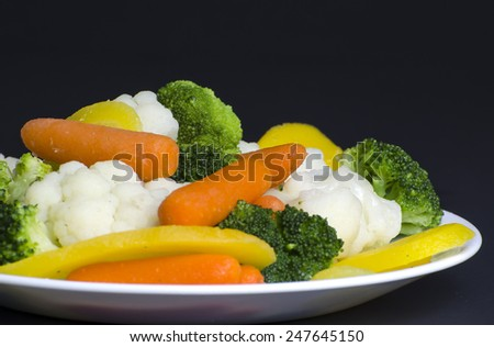 Steamed vegetables - stock photo