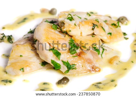 steamed zander fish - stock photo