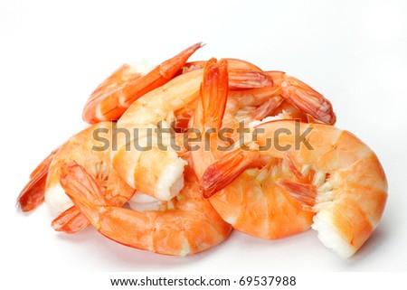 steaming shrimp - stock photo