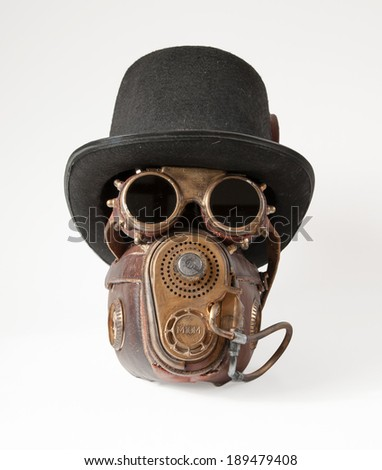Stock photo steampunk accessories steampunk hat goggles and mask