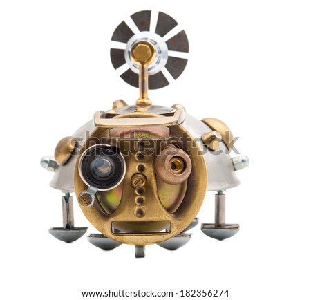Steampunk beetle. - stock photo