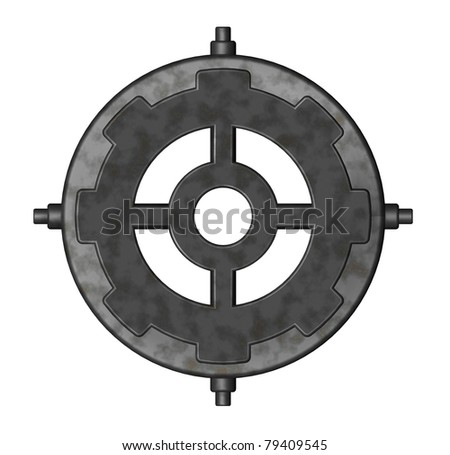 steampunk element on white background - 3d illustration