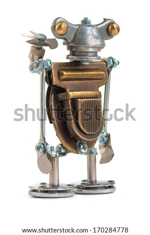 Steampunk robot. - stock photo