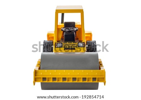 Steamroller Toys Steamroller Toy Isolated on
