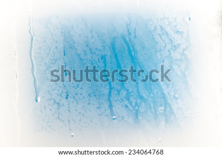 steamy frozen glass abstract background - stock photo