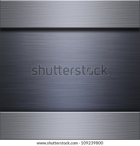 Steel and aluminum background or texture - stock photo