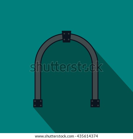 Steel arch icon, flat style - stock photo