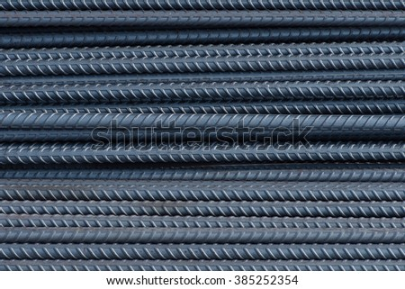 Steel bar texture - stock photo