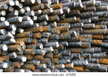 Steel Bars (concrete reinforcing) - stock photo