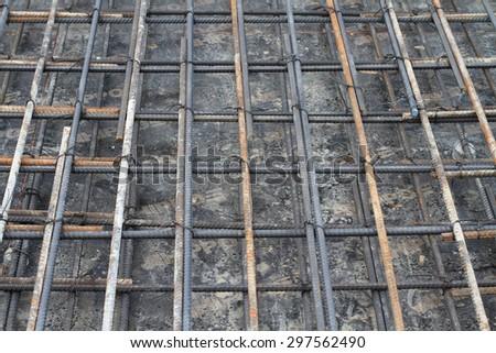steel bars construction materials - stock photo