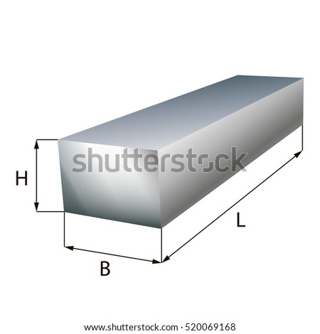 Steel block plate industrial metal object.