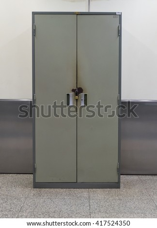 Steel cabinet - stock photo