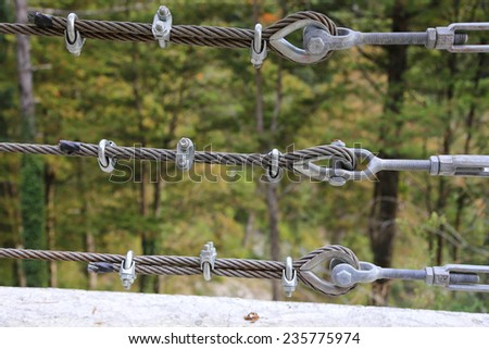 steel cables - stock photo