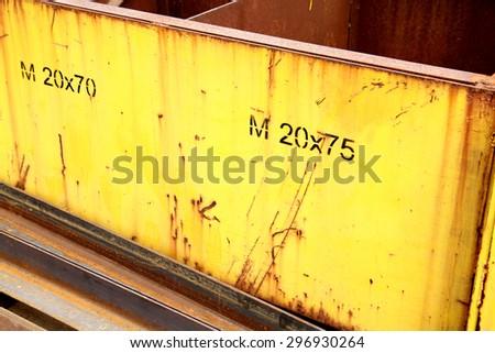 Steel casket in warehouse - stock photo