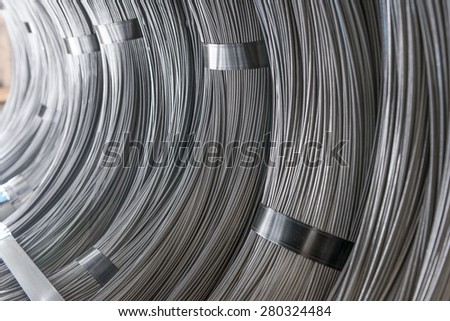 Steel Coils - stock photo
