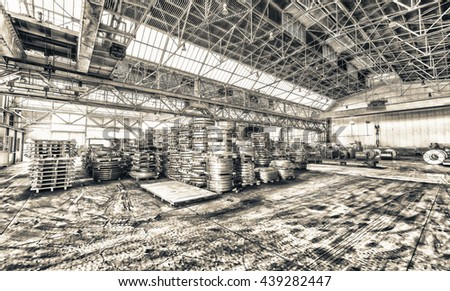 Steel coils warehouse.