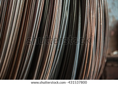 Steel construction for rust  - stock photo