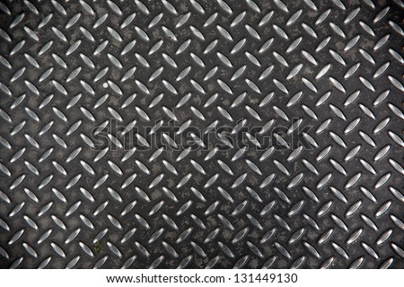 steel diamond plate texture - stock photo