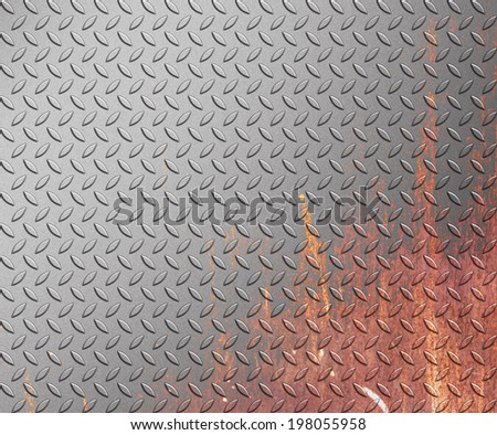 steel diamond plate texture background, metal plate - stock photo