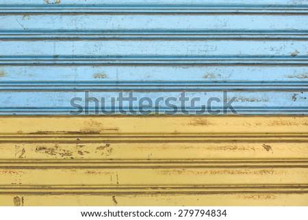 Steel door several background colors - stock photo