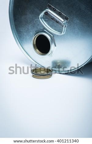Steel drum for hazardous chemicals - stock photo