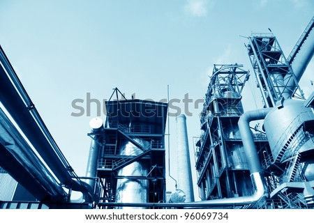 steel enterprise production equipment in a factory in China - stock photo