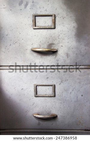 Steel filing cabinet for privacy data in the office - stock photo