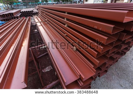 Steel for construction - stock photo