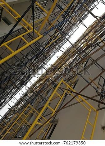 Steel Frame Construction Steel Industry Equipment Stock Photo (100 ...