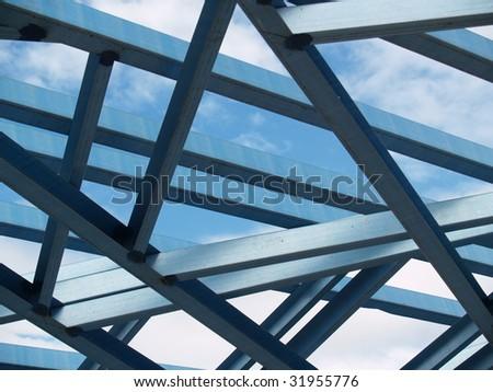 Steel Frames - stock photo