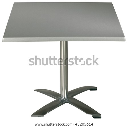 Steel Garden Table on white with clipping path