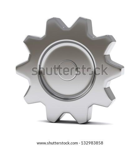 Steel gear, 3d - stock photo