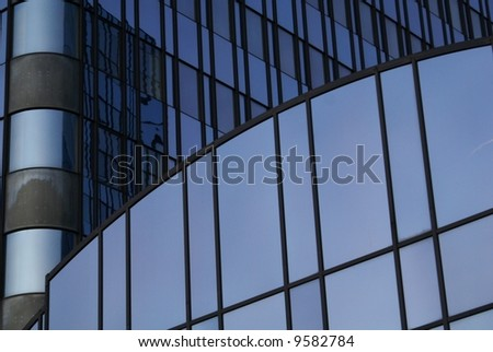 Steel & glass business building