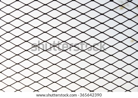 Steel Grating grid on black background - stock photo