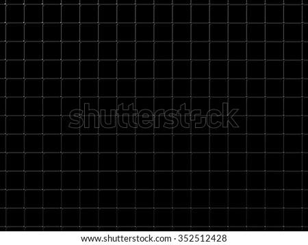 Steel grid over black - stock photo